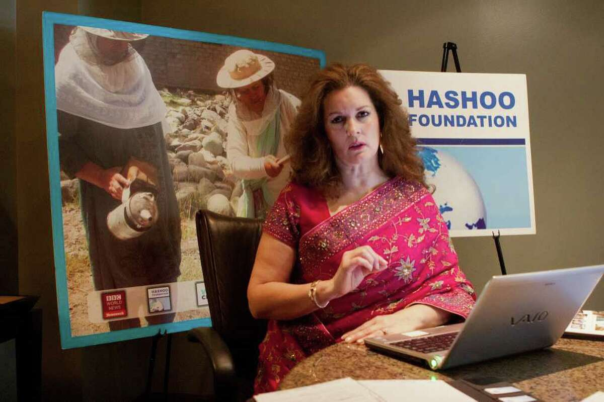 R. CLAYTON MCKEE: FOR THE CHRONICLE WORKING FOR A CAUSE: Cristal Montanez Baylor is the executive director of Hashoo Foundation USA, which promote economic development in Pakistan.