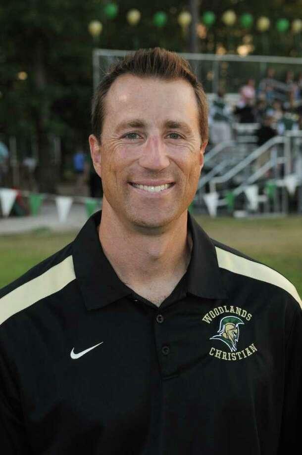 Woodlands Christian Academy Head Football Coach Nate Sanford Photo: Jerry Baker
