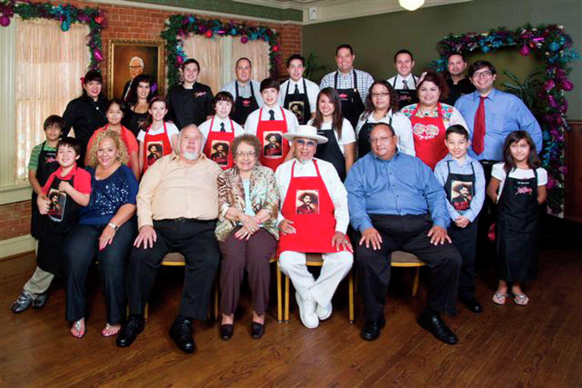 Mi Tierra Cafe's Cortez family. This photo shows the entire family, all four generations.