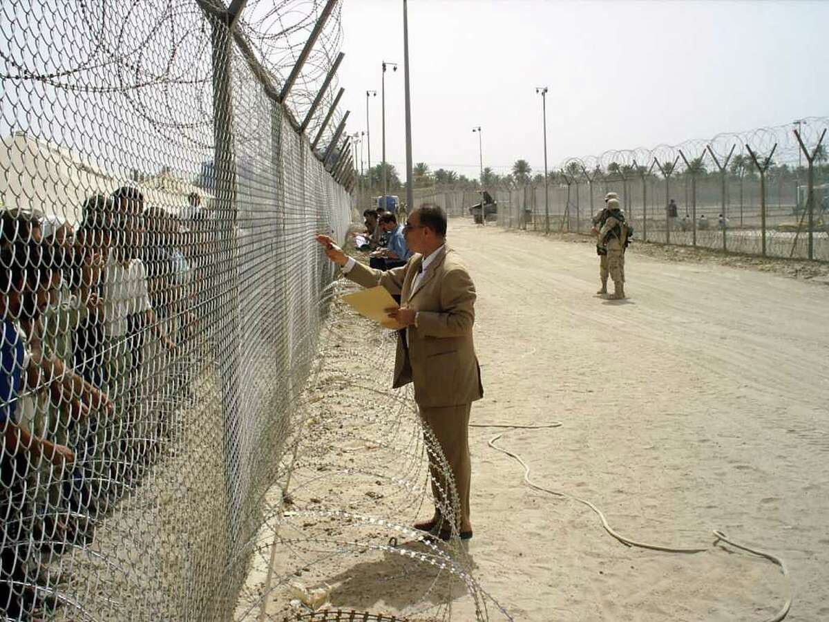 Dr. Riyadh at Abu Ghraib prison Credit: Paul Cobaugh