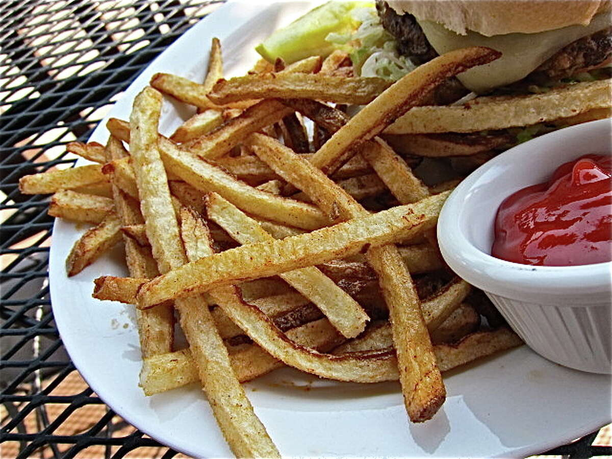 Fresh-cut fries at Facundo Cafe, in the Dr. Gleem Car Wash on Ella Blvd. Photo by Alison Cook