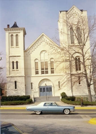 An historic photo of the United Methodist Church. Photo: Courtesy Of The Norwalk Museum