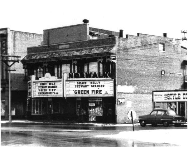 The Wall St. theater then and now. Photo: Courtesy Of The Norwalk Museum