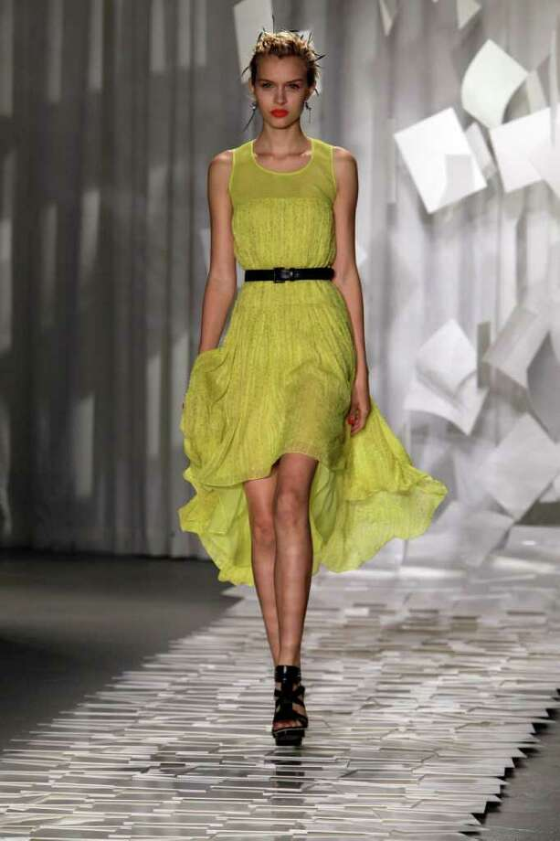 The Jason Wu Spring 2012 collection is modeled Friday, Sept. 9, 2011 during Fashion Week in New York.  (AP Photo/Mary Altaffer) Photo: Mary Altaffer / AP