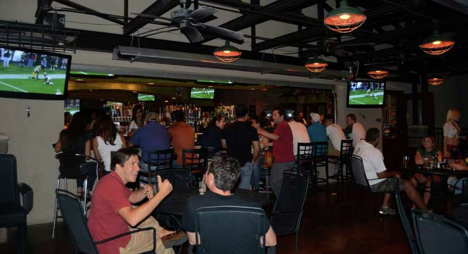 Tilted Kilt Pub & Eatery, 2070 N. Loop 1604 E, 210-497-2800, www.tiltedkilt.com. It's perfect for a game stop with several screens, wings, beer, a patio and an Irish feel complete with waitresses in kilts.