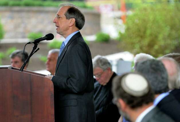 Steven P. Boyle, president and CEO, speaks during the grand opening of the six-story Patient Care Pavilion on Wednesday, Sept. 14, 2011, at St. Peter's Hospital in Albany, N.Y. (Cindy Schultz / Times Union) Photo: Cindy Schultz