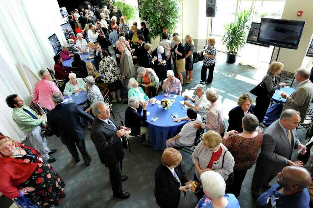 Guests gather in the Massry Family Atrium on Wednesday, Sept. 14, 2011, at St. Peter's Hospital in Albany, N.Y. (Cindy Schultz / Times Union) Photo: Cindy Schultz