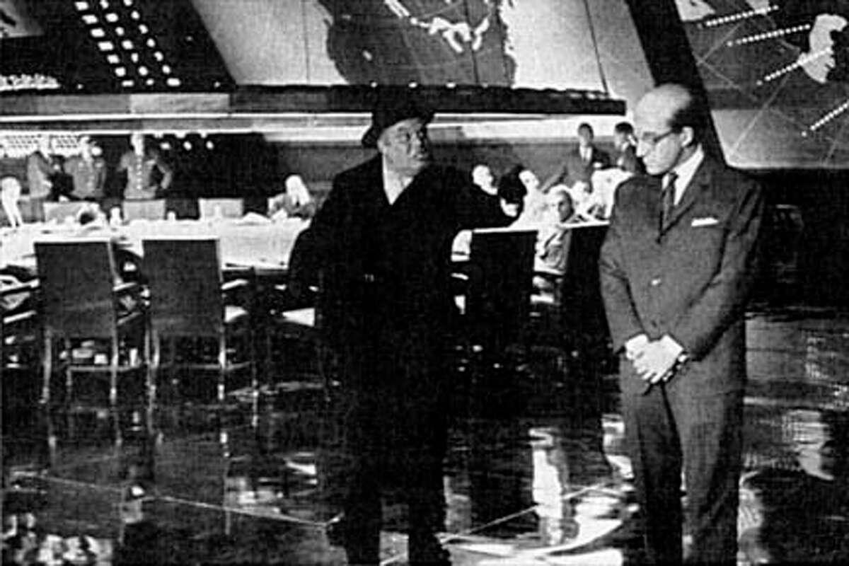 A film about what could happen if the wrong person pushed the wrong button -- and it played the situation for laughs. U.S. Air Force General Jack Ripper goes completely insane, and sends his bomber wing to destroy the U.S.S.R. He thinks that the communists are conspiring to pollute the