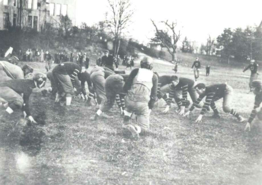 Manor School took on Greenwich High School back in 1912. The final score: Manor School 6, GHS 0. Photo: Contributed Photo