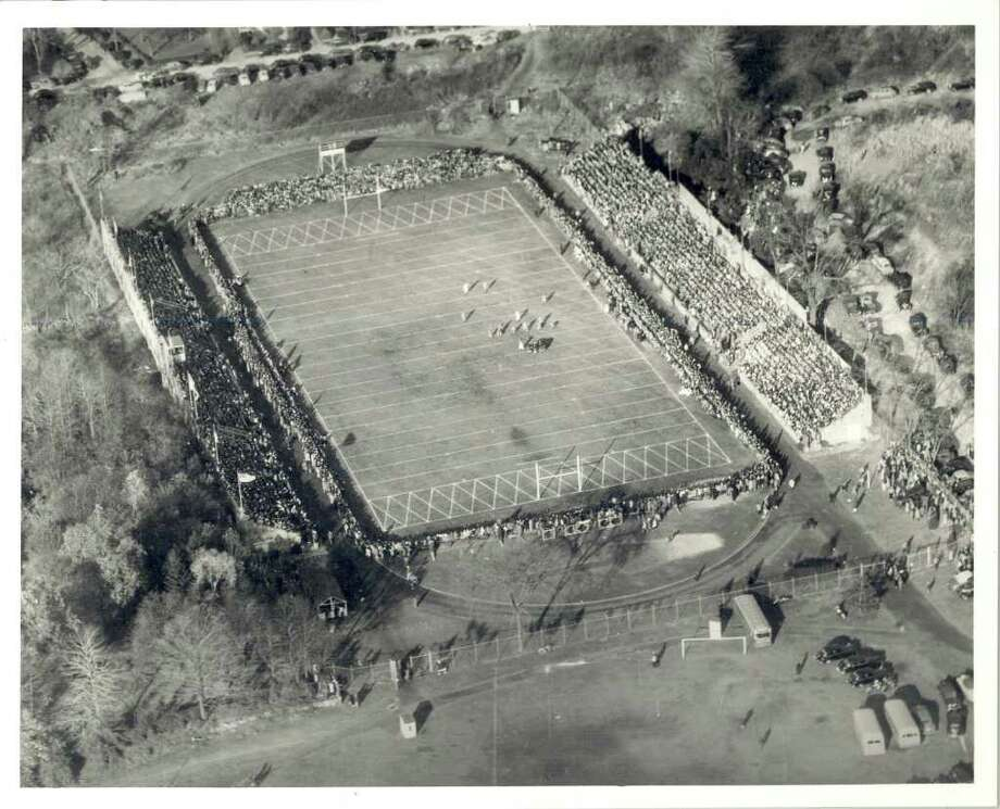 Boyle Stadium at Stamford High School was the setting for a Thanksgiving Day battle between Greenwich High School and  Stamford (1944?). GHS won the game. Photo: Contributed Photo