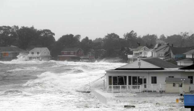 The  storm surge from Tropical Storm Irene at the Silver Sands Beach and Tennis Club in East Haven club on Sunday Aug. 28, 2011. State Senator Len Fasano, R-34 owns the club and restaurant which will have to largely be rebuilt. Photo: Contributed Photo\Len Fasano / Connecticut Post Contributed