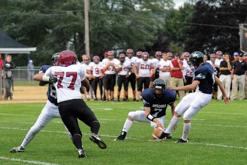 Highlights from boys football action between Ansonia and Torrington in Ansonia, Conn. on Thursday September 14, 2011.