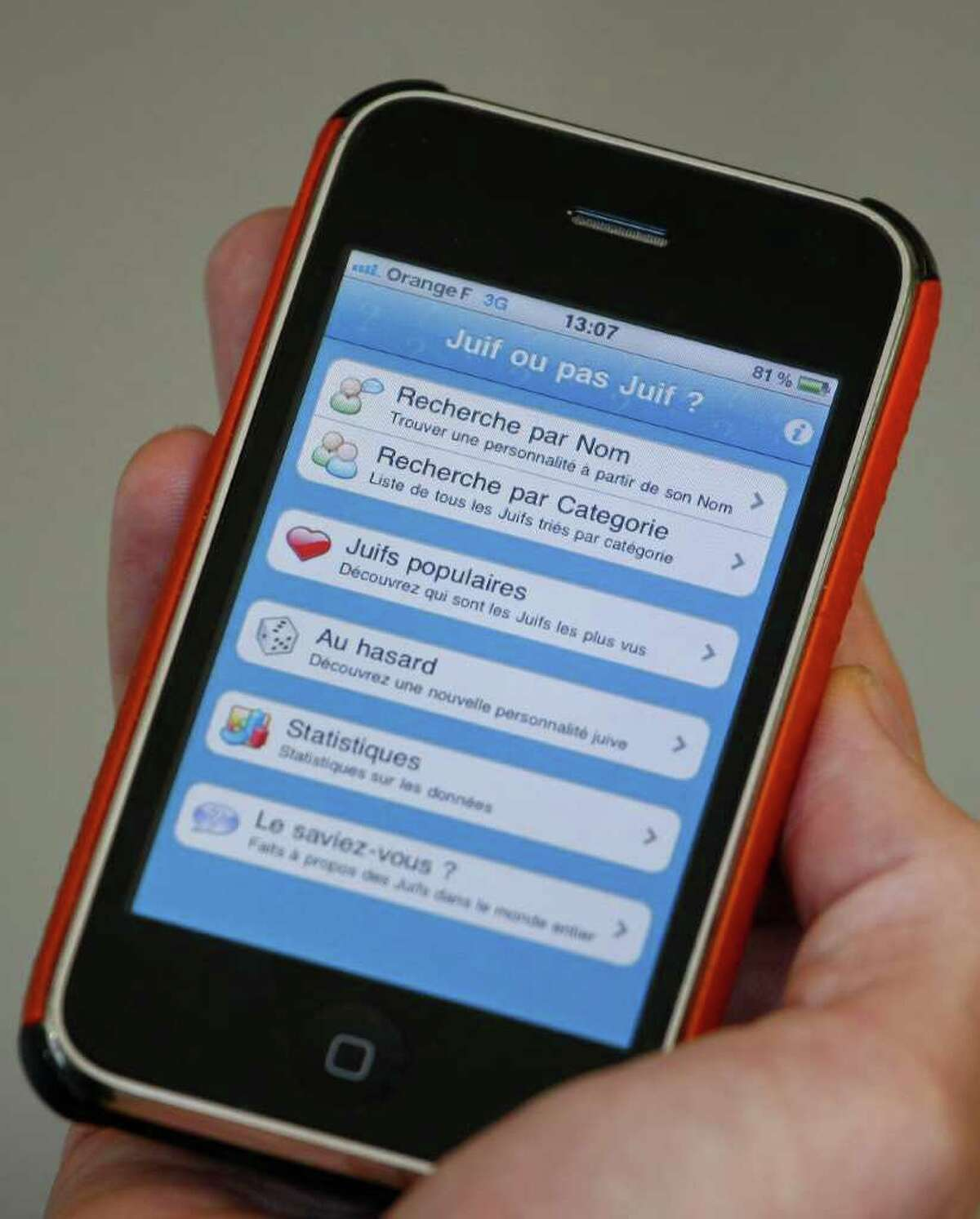 The Iphone application