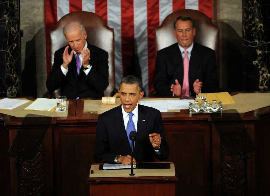 President Barack Obama addresses a joint session of Congress on Sept. 8 regarding jobs. CHARLES DHARAPAK: ASSOCIATED PRESS Photo: OLIVIER DOULIERY / MCT