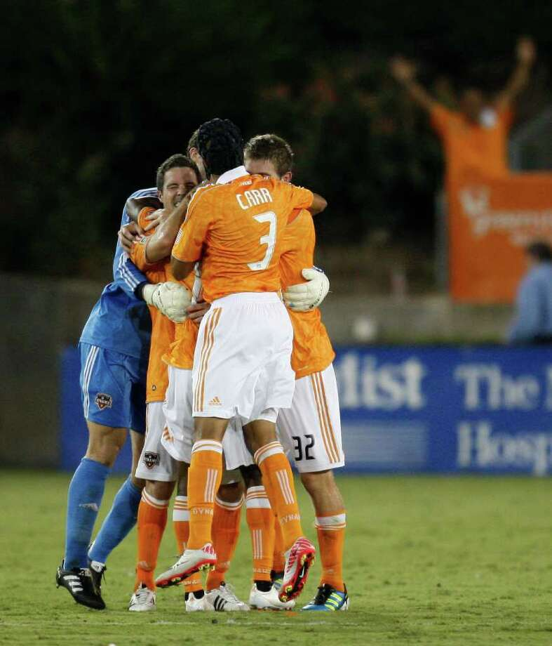Calen Carr and the Dynamo earned a 3-2 victory over Real Salt Lake on Aug. 20 in Carr's second match back from a concussion. Carr made his Dynamo debut Aug. 17. Photo: Eric Christian Smith / 2011 Getty Images