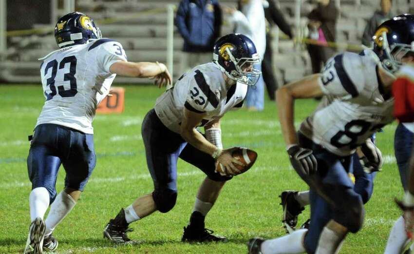 Highlights from boys football action between Stratford and Weston in Stratford, Conn. on Friday September 16, 2011.