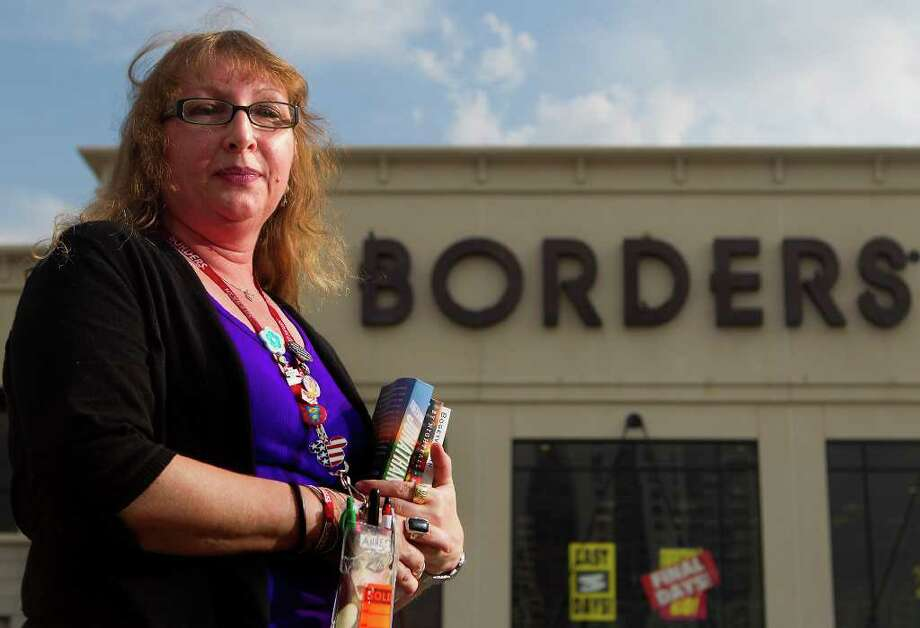 Annette Wilzig has worked at the Borders on Kirby since it opened in 2000. She is one of 10,700 employees losing jobs. Photo: Cody Duty / © 2011 Houston Chronicle