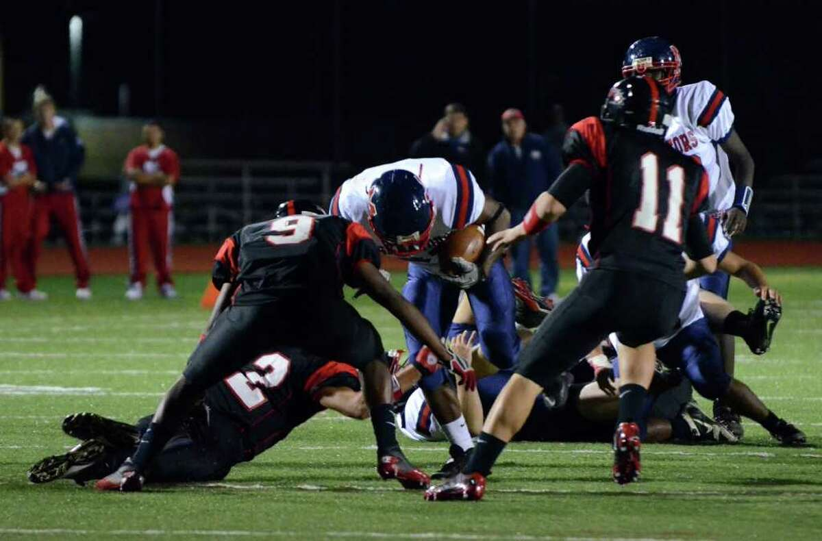 Highlights from the Fairfield Warde vs Brien McMahon football game at Fairfield Warde High School on Friday, Sept. 16, 2011.