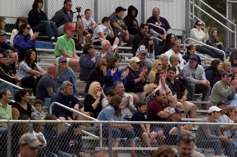 Immaculate fans in the stands during their game against Bunnell at Immaculate High School on Saturday, Sept. 17, 2011.  Bunnell won 46-21. Photo: Jason Rearick / The News-Times