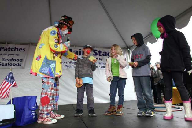 J.P. Patches has fun with audience members during his final public performance. Photo: JOSHUA TRUJILLO / SEATTLEPI.COM