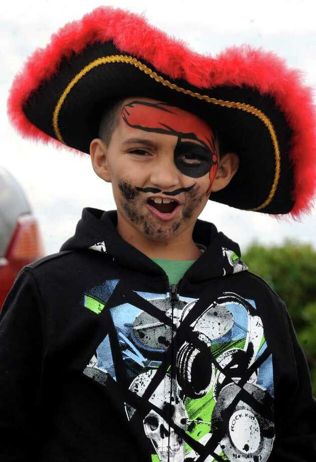 "Ryan Romero, 6, of Stratford, lets out a pirate ""Aargh!"" as he attends Pirate Fest, presented by Pirates for Prevention, which was held at Captain's Cove Seaport in Bridgeport, Conn. on Saturday September 17, 2011. Money raised from the event benifits P.A.W.S., a nonprofit shelter in Norwalk, and the ASPCA. Photo: Christian Abraham / Connecticut Post"