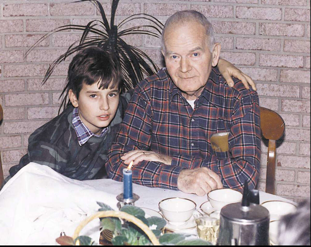 The last known photo of Matthew Margolies, shown with his grandfather, George Miazga. The photo was taken in 1984, the same year Margolies was found murdered. The case remains unsolved.