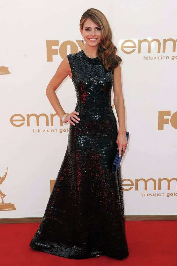 LOS ANGELES, CA - SEPTEMBER 18:  TV personality Maria Menounos arrives at the 63rd Annual Primetime Emmy Awards held at Nokia Theatre L.A. LIVE on September 18, 2011 in Los Angeles, California. Photo: Frazer Harrison, Getty Images / 2011 Getty Images