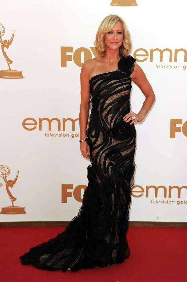 LOS ANGELES, CA - SEPTEMBER 18:  TV personality Lara Spencer arrives at the 63rd Annual Primetime Emmy Awards held at Nokia Theatre L.A. LIVE on September 18, 2011 in Los Angeles, California. Photo: Kevin Winter, Getty Images / 2011 Getty Images
