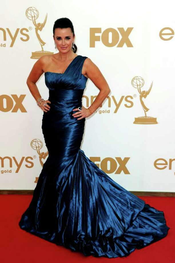 LOS ANGELES, CA - SEPTEMBER 18:  TV personality Kyle Richards arrives at the 63rd Annual Primetime Emmy Awards held at Nokia Theatre L.A. LIVE on September 18, 2011 in Los Angeles, California. Photo: Kevin Winter, Getty Images / 2011 Getty Images