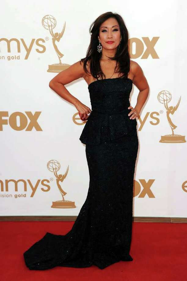 LOS ANGELES, CA - SEPTEMBER 18:  TV personality Carrie Ann Inaba arrives at the 63rd Annual Primetime Emmy Awards held at Nokia Theatre L.A. LIVE on September 18, 2011 in Los Angeles, California. Photo: Frazer Harrison, Getty Images / 2011 Getty Images