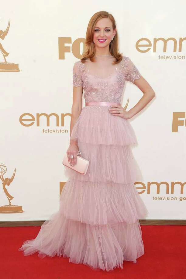 LOS ANGELES, CA - SEPTEMBER 18:  Actress Jayma Mays arrives at the 63rd Annual Primetime Emmy Awards held at Nokia Theatre L.A. LIVE on September 18, 2011 in Los Angeles, California. Photo: Frazer Harrison, Getty Images / 2011 Getty Images