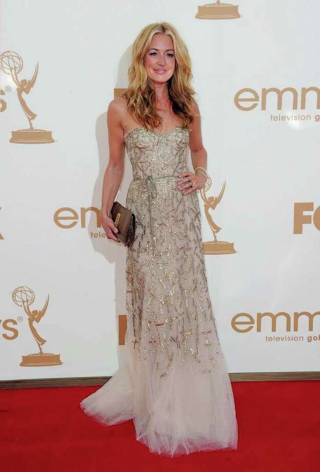 LOS ANGELES, CA - SEPTEMBER 18:  TV personality Cat Deeley arrives at the 63rd Annual Primetime Emmy Awards held at Nokia Theatre L.A. LIVE on September 18, 2011 in Los Angeles, California. Photo: Frazer Harrison, Getty Images / 2011 Getty Images