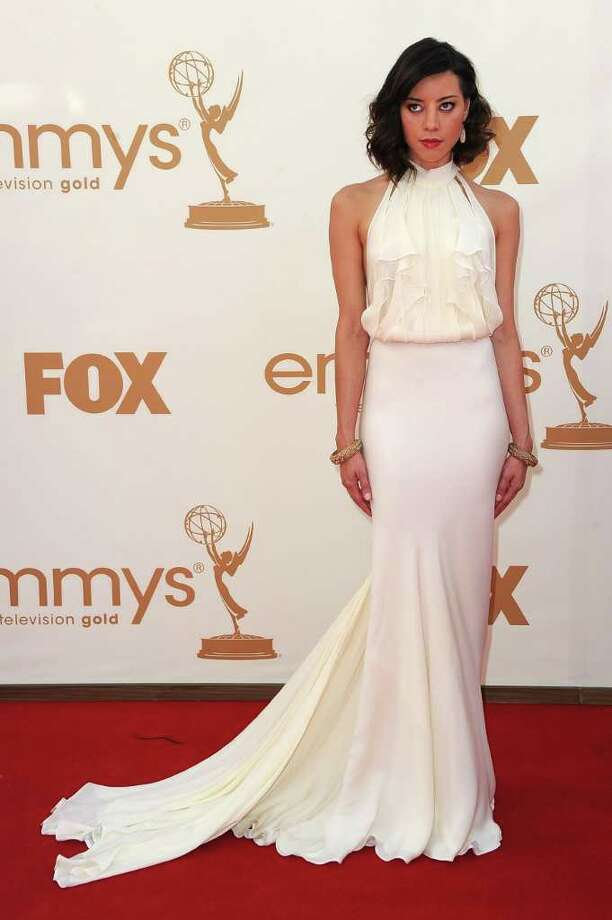 LOS ANGELES, CA - SEPTEMBER 18:  Actress Aubrey Plaza arrives at the 63rd Annual Primetime Emmy Awards held at Nokia Theatre L.A. LIVE on September 18, 2011 in Los Angeles, California. Photo: Frazer Harrison, Getty Images / 2011 Getty Images