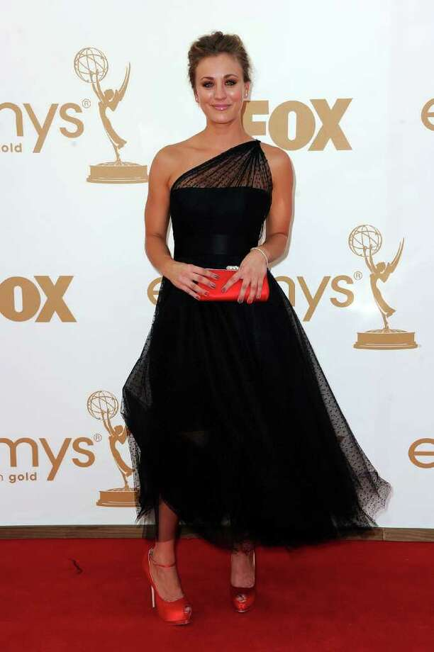 LOS ANGELES, CA - SEPTEMBER 18:  Actress Kaley Cuoco arrives at the 63rd Annual Primetime Emmy Awards held at Nokia Theatre L.A. LIVE on September 18, 2011 in Los Angeles, California. Photo: Frazer Harrison, Getty Images / 2011 Getty Images