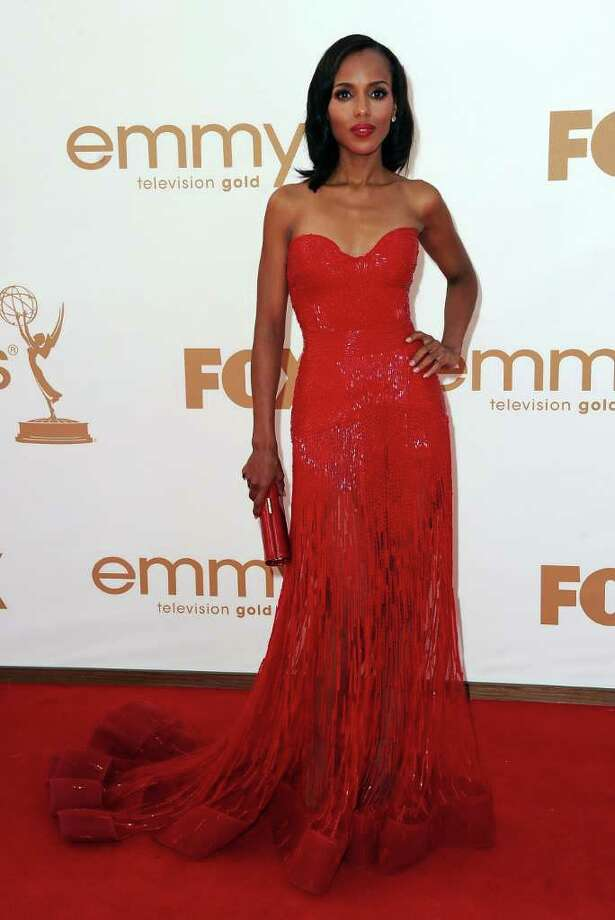 LOS ANGELES, CA - SEPTEMBER 18:  Actress Kerry Washington arrives at the 63rd Annual Primetime Emmy Awards held at Nokia Theatre L.A. LIVE on September 18, 2011 in Los Angeles, California. Photo: Frazer Harrison, Getty Images / 2011 Getty Images