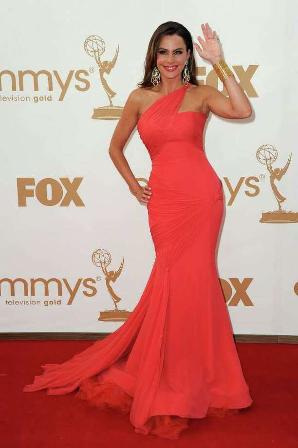 Best: Sofía Vergara's tangerine frock was a perfect fit for the feisty star.  Photo: Frazer Harrison, Getty Images / 2011 Getty Images