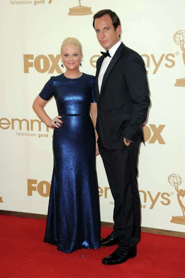 LOS ANGELES, CA - SEPTEMBER 18:  Actors Amy Poehler and Will Arnett arrives at the 63rd Annual Primetime Emmy Awards held at Nokia Theatre L.A. LIVE on September 18, 2011 in Los Angeles, California. Photo: Frazer Harrison, Getty Images / 2011 Getty Images