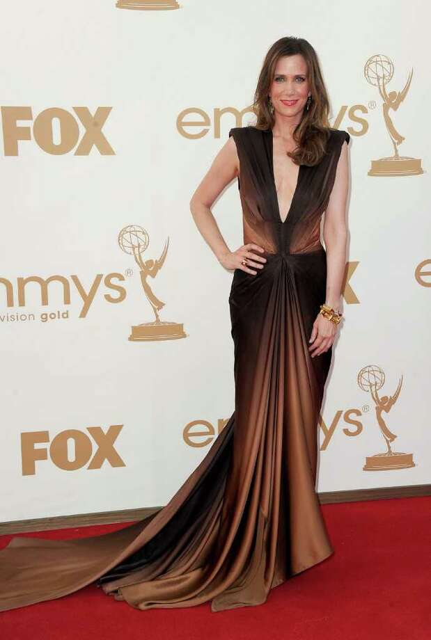LOS ANGELES, CA - SEPTEMBER 18:  Actress Kristen Wiig arrives at the 63rd Annual Primetime Emmy Awards held at Nokia Theatre L.A. LIVE on September 18, 2011 in Los Angeles, California. Photo: Frazer Harrison, Getty Images / 2011 Getty Images