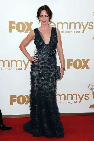 LOS ANGELES, CA - SEPTEMBER 18:  Actress Emily Blunt arrives at the 63rd Annual Primetime Emmy Award