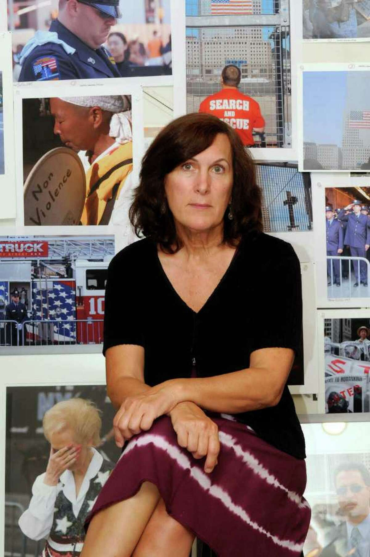 Local photographer Marie Triller, who has visited the 9/11 memorial at ground zero every anniversary and has just published a photography book,