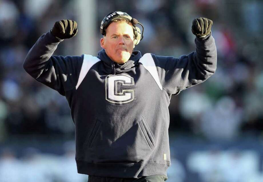 UConn could be reunited with former coach Randy Edsall if the Huskies make the jump to the ACC. Photo: AP Photo / AP2011
