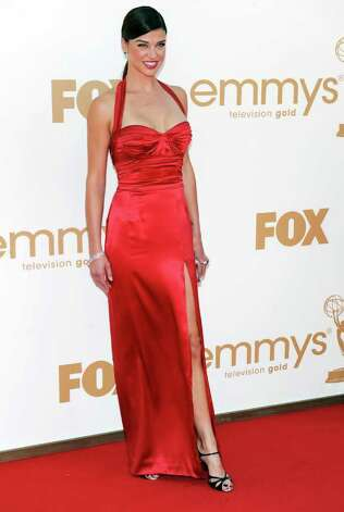 Adrianne Palicki arrives at the 63rd Primetime Emmy Awards on Sunday, Sept. 18, 2011 in Los Angeles. Photo: AP