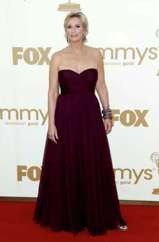 Jane Lynch arrives at the 63rd Primetime Emmy Awards on Sunday, Sept. 18, 2011 in Los Angeles. Photo: AP