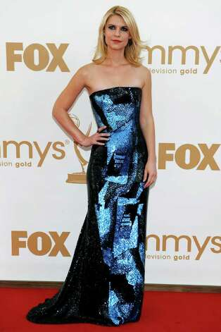 Claire Danes arrives at the 63rd Primetime Emmy Awards on Sunday, Sept. 18, 2011 in Los Angeles. Photo: AP