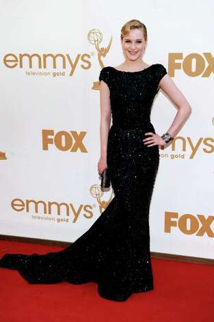Evan Rachel Wood arrives at the 63rd Primetime Emmy Awards on Sunday, Sept. 18, 2011 in Los Angeles. Photo: AP