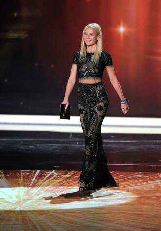 Gwyneth Paltrow is seen onstage at the 63rd Primetime Emmy Awards on Sunday, Sept. 18, 2011 in Los Angeles. Photo: AP
