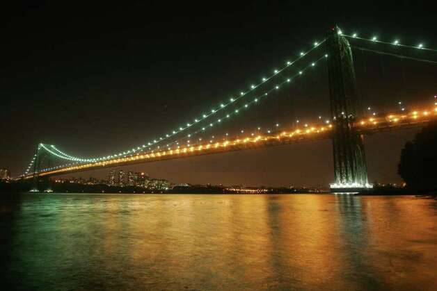 The George Washington Bridge celebrates its 75th anniversary.   Tariq Zehawi / The Record Photo: Consortium / The Record (Bergen Co., N.J.)