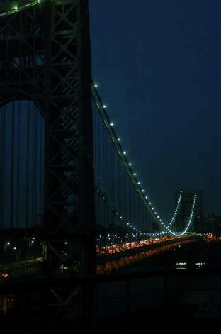 George  Washington Bridge  at night  from Fort Lee Historical park. Don Smith / The Record Photo: Smith, Consortium / The Record (Bergen Co., N.J.)