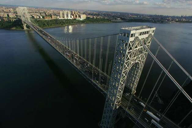 Aerial photos of the George Washington Bridge. Tariq Zehawi / The Record Photo: ZEHAWI TARIQ, Consortium / The Record (Bergen Co., N.J.)