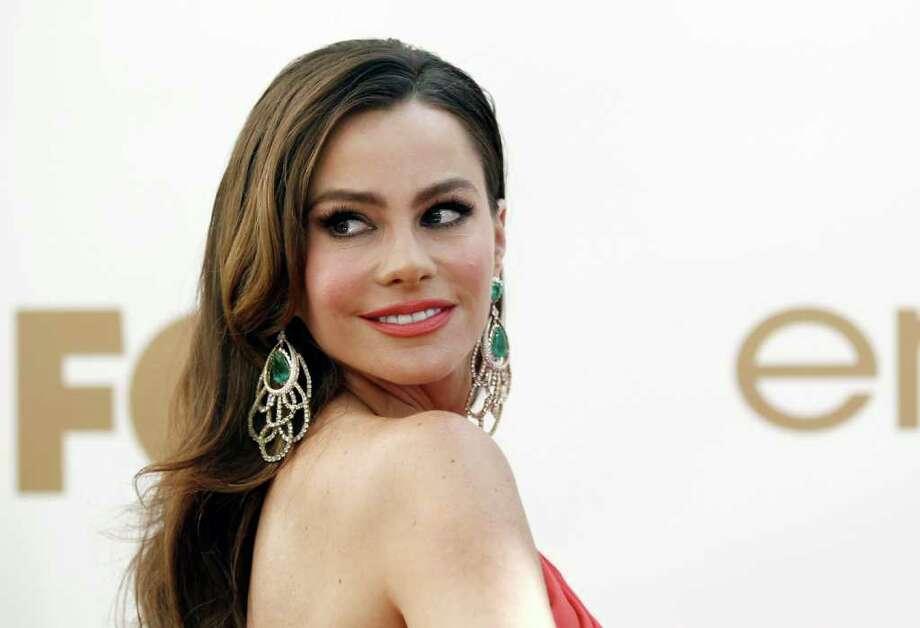 Sofía Vergara, en la entrega de los premios Emmy Awards, el domingo 18 de septiembre de 2011 en Los Ángeles. Photo: Matt Sayles / AP